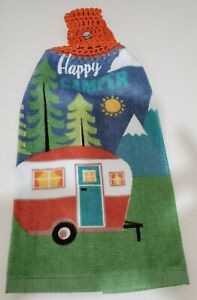 Crochet Top Towels - Camping Trailer