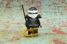 Lego Mini Figure Ninjago Zane with Round Torso Emblem and Armor from Set 70751