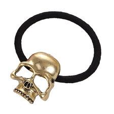 Fashion Punk Skull Hair Tie Cuff Wrap.Ponytail Holder Hair Band Rope Accessories