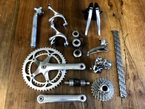 Campagnolo Record 8 speed groupset group set seatpost headset 175 52 39