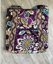VERA BRADLEY Large Hipster Crossbody Bag Purse Plum Crazy