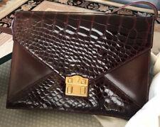 GUCCI Vintage Crocodile Purse Shoulder Bag Classic 80s GENUINE GENTLY USED w BAG
