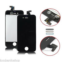 SCHERMO DISPLAY IPHONE 4S NERO PER APPLE TOUCH SCREEN LCD RETINA VETRO FRAME
