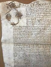 1653 Legal Document On Vellum  Y794
