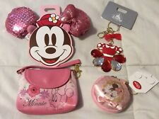 Disney Store Japan Mini Bag Keychain, HairPin, Keychain, Coin Case Minnie Mouse