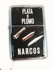 Lighter Star Narcos Plata o Plomo Silver Refillable Windproof Oil Petrol FlipTop