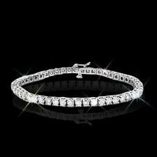 3.00 ctw Round Brilliant Moissanite 14k White Gold Over Tennis Bracelet 7.25""