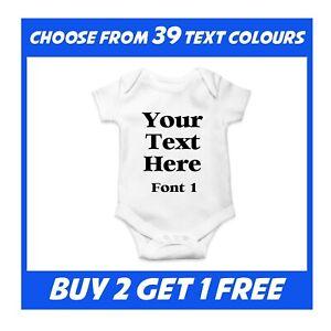 Personalised Baby Grow Vest Bodysuit Baby Shower Present Boy Christmas Girl Gift
