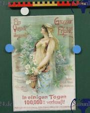 altes Werbeplakat Parfümerie Edit Müller Klingentahl in Sachen um 1880 Parfüm