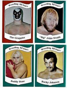 1983 Wrestling All St*rs Series A: 21 Grappler 22 Studd 23 Buddy Rose 24 Johnson