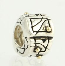NEW Chamilia Bead Charm - Sterling Silver Gold Dots KC-40 Retired