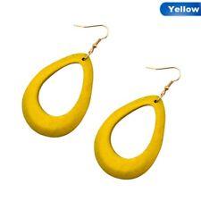Women 1 Pair Retro Wood Hollow National Style Dangle Drop Earrings Cute Jewelry