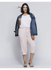 NWT $60 LANE BRYANT Veiled Rose Capri shorts PLUS 22/24 tie waist tab leg hem