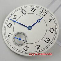 38.9mm white dial dial blue hands fit ETA 6498 mens watch D62 (Dial+hands)