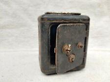 1940s Vintage Tin Safety Money Box Safe The Vault Japan Decorative Collectible