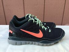 Rare Women's Nike Free TR Fit 2 Shield Water Repel 536437-008 US Sz 9 Black