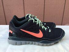 Rare Women's Nike Free TR Fit 2 Shield Water Repel 536437-008 US Sz 9 Black