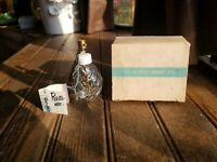 Vtg IRice Presto Mist Bulbless Atomizer Perfume Bottle Patterned Glass with Box