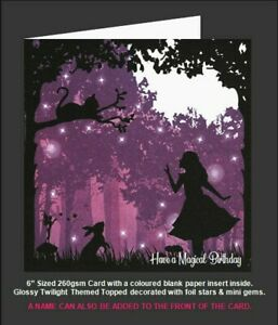 Once Upon a Twilight 'Alice In Wonderland & Cheshire Cat', Magical Birthday Card
