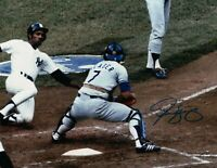 Steve Yeager Signed Autographed 8X10 Photo LA Dodgers World Series at Plate COA