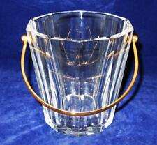 "Baccarat TALLYRAND, Cut Panels, 6"" Ice Bucket w/ Gold Tone Handle"