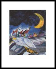 Rainer Höschler Winternight Poster Kunstdruck Bild im Alu Rahmen schwarz 80x60cm