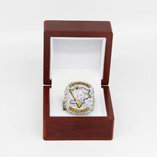 2017 PITTSBURG PENGUINS Stanley Cup Championship Rings SZ 12 W/ WOOD DISPLAY BOX