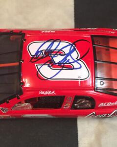 Autographed Dale Earnhardt #3 Coke Clear Window Car Action 1/24 JSA Certified
