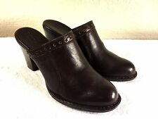 Born Womens brown leather mules size 10 Nice!!