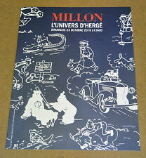 HERGÉ - TINTIN - CATALOGUE DE VENTE - MILLION - 2016 ( COMME NEUF )