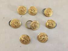 Lot of 8 US Navy USN Military Eagle Round Bright Anchor Brass Shank Buttons 2cm