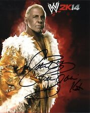 "WWE SIGNED PHOTO RIC FLAIR WRESTLING 8x10"" PROMO WWF WCW THE NATURE BOY"