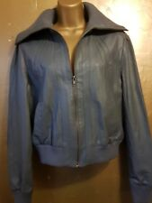 Cute grey leather jacket from Atmosphere with high collar and zip fastening. 14.