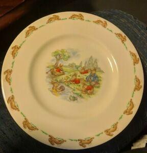 "Vintage Royal Doulton BUNNYKINS Playin on River England Fine Bone China 8"" Plate"