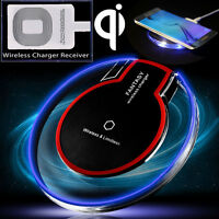 Qi Wireless Charger Universal Charging Pad for Samsung S8 Plus iPhone + Receiver