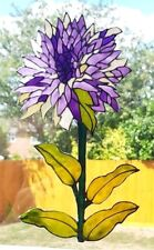 CHRYSANTHEMUM STAINED GLASS EFFECT WINDOW CLING ART FLOWER DOOR DECORATION DECAL