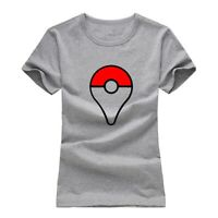 Poke Ball Catch Digital Print T-Shirt Womens Girls Graphic Tee Shirts Tops Gift