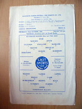 1964/65 League Cup 3rd Rd Replay-  BLACKBURN ROVERS v WORKINGTON  22nd October
