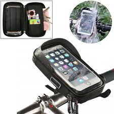 Waterproof Zip Holder Motorcycle Bar Mount Phone Storage Bag Case Pouch Black 1x