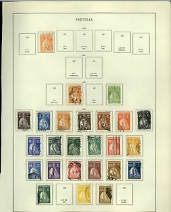 Portugal 1925-1926 Album Page Of Stamps #V21133