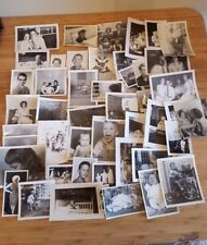 LOT 50 VTG 1940s 1950s 1960s Black and White Photos Kids Portraits Families