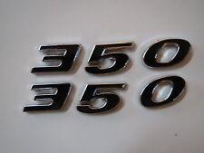 PONTIAC 350 ENGINE SIZE HOOD SCOOP FENDER TRUNK EMBLEMS - BLACK