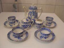 Seltenes altes Porzellan Moccaservice Dekor China-Blau