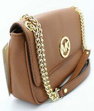 Michael Kors 35h2gftf1l Fulton Small Shoulder Flap Leather Brown Handbag