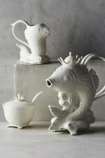 "New Anthropologie Fish ""Poisson"" FULL Tea Set ~ Teapot, Creamer & Sugar Bowl"