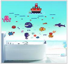 Murales pared Pegatina de pared Sticker habitación infantil barco lago seaworld f004