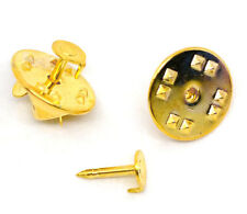 TIE TAC TACK PIN FLAT PAD & TIE SQUEEZE CLUTCH 4MM SILVER OR GOLD PLATED