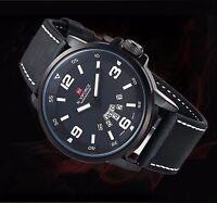 Montre Naviforce Neuve Militaire Homme Bracelet Cuir Date US ARMY watch PROMO