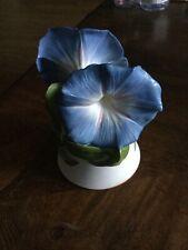 Jeanne Holgate Heavenly Blue Morning Glory Bell Franklin Mint