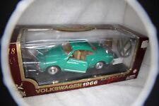 Road Legends Collection 1:18 Die Cast Green 1966 Volkswagen Karmann Ghia # 92198